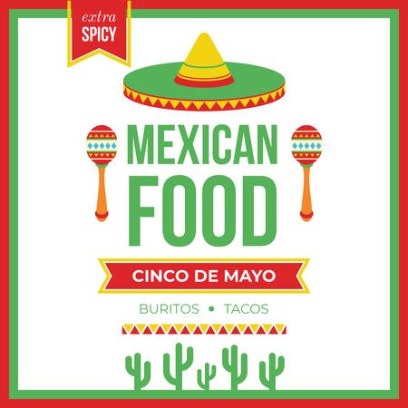 Mexican food on Cinco de Mayo holiday Instagram AD Modelo de Design