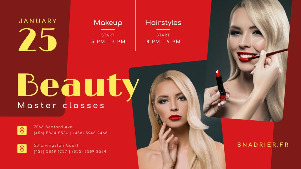 Beauty Courses Beautician applying Makeup — Crear un diseño