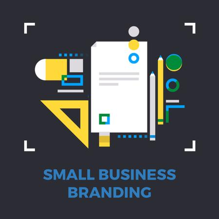 Template di design Business file icon Animated Post