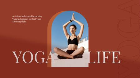 Template di design Yoga for Morning Routine Youtube Thumbnail