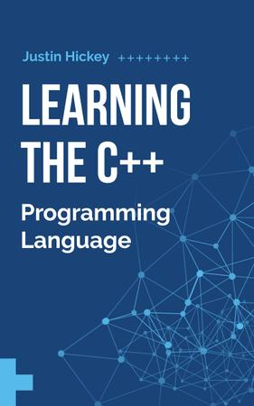 Programming Cyber Network Model in Blue Book Cover – шаблон для дизайна