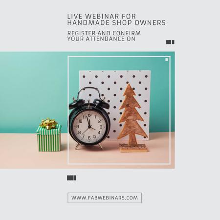 Template di design Inspirational Quote about Interests with alarm clock Instagram AD