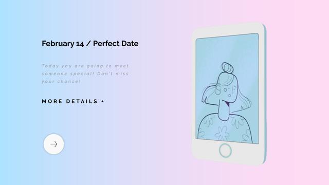 Boy and Girl sending Valentine's Day kisses  Full HD video Modelo de Design