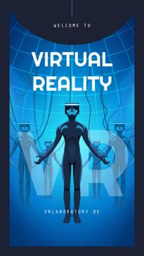 Illustration of People using vr glasses