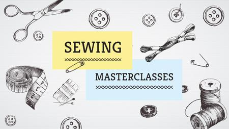 Sewing day event Youtube – шаблон для дизайна
