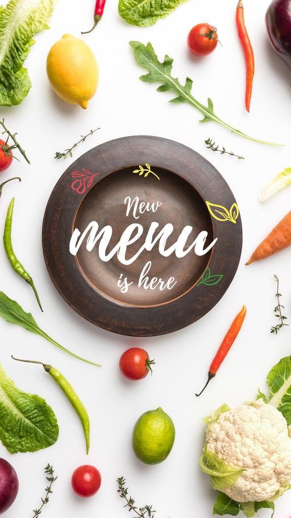 Meal with greens and Vegetables — Maak een ontwerp