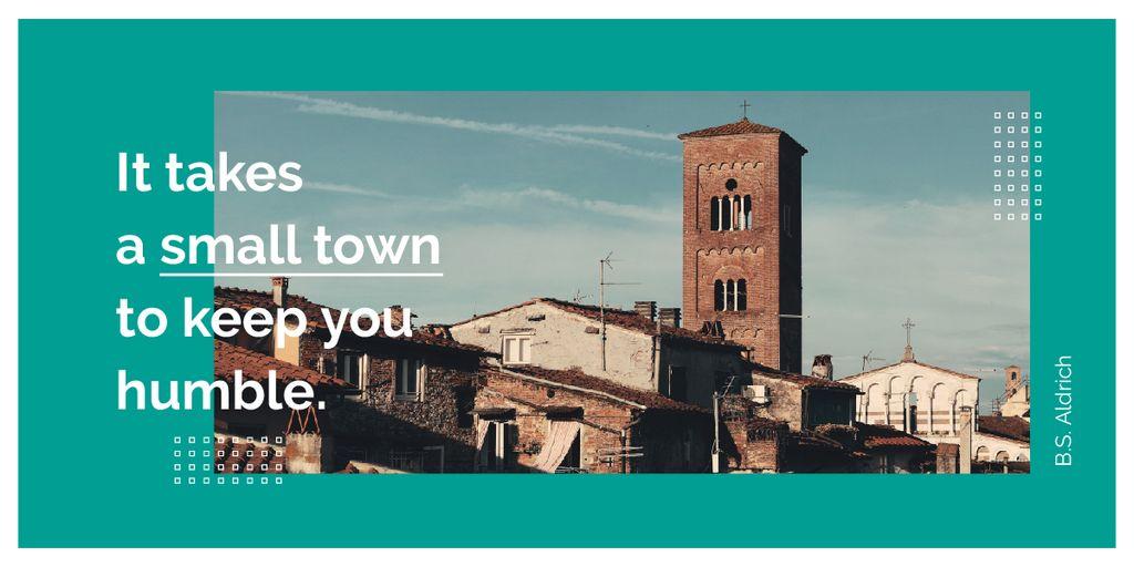 Designvorlage Old town buildings für Image
