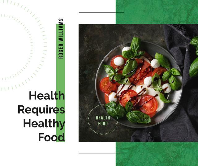 Healthy Italian caprese salad Facebook Tasarım Şablonu