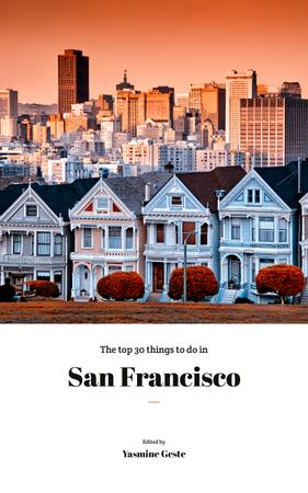 Vintage Houses of San Francisco Book Cover Design Template