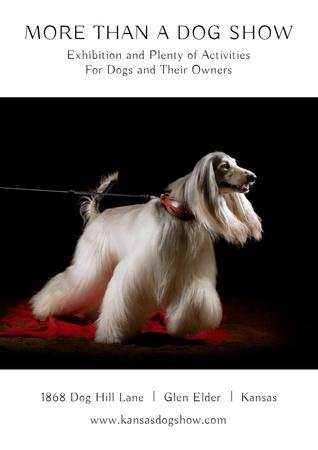Plantilla de diseño de Dog Show in Kansas Poster
