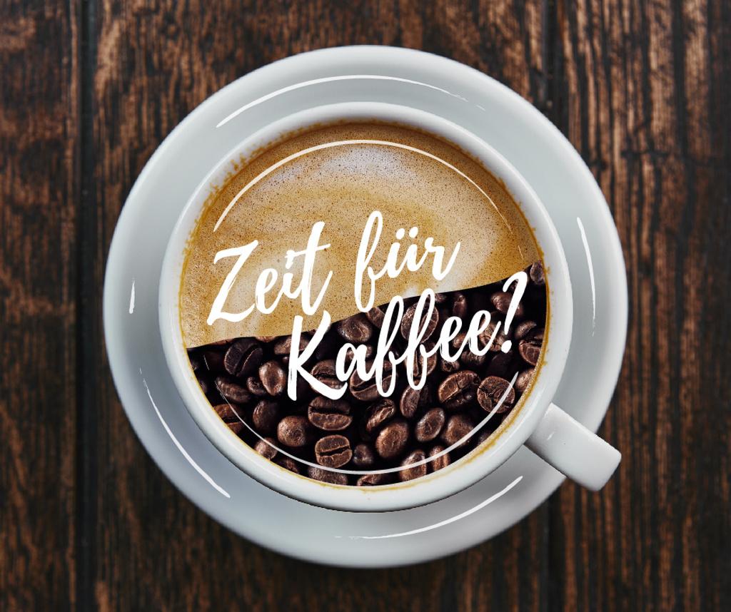 Coffee Break Offer Beans and Coffee in Cup — Modelo de projeto