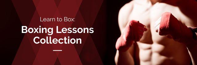 Plantilla de diseño de boxing lessons advertisement poster Twitter