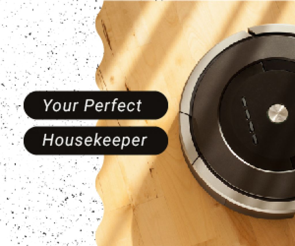 Robot Vacuum Cleaner | Medium Rectangle Template — ein Design erstellen