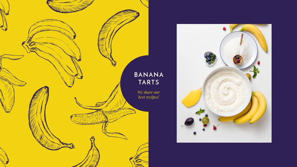 Cooking banana dessert — Modelo de projeto