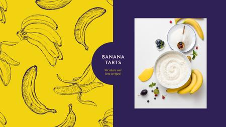 Plantilla de diseño de Cooking banana dessert Youtube
