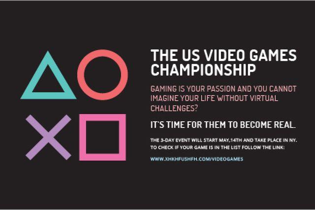 Designvorlage Video games Championship für Gift Certificate