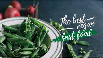 Vegan food green peas