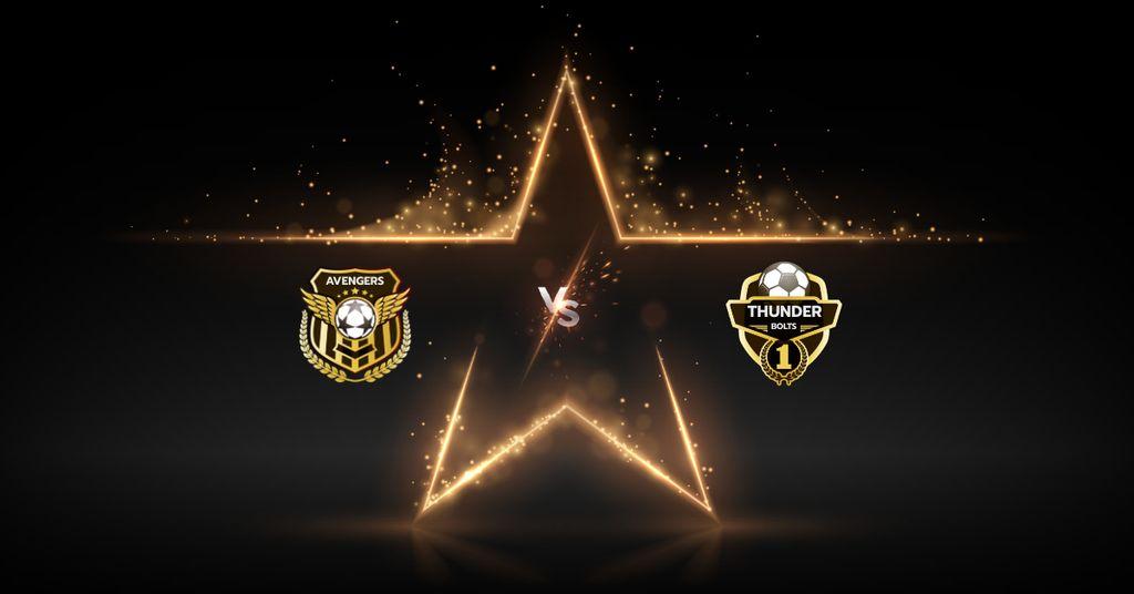 Modèle de visuel Football Match announcement with Badges - Facebook AD