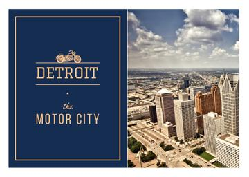 Detroit city view