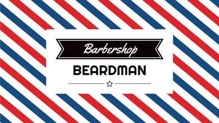 Plantilla de diseño de Barbershop Striped Lamp Pattern Full HD video