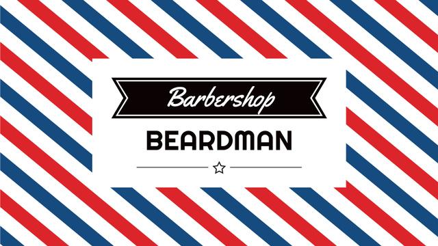 Plantilla de diseño de Barbershop Striped Lamp Pattern Full HD video