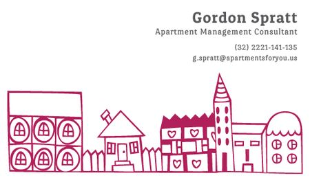 Ontwerpsjabloon van Business card van Apartment Management Consultant Services Offer