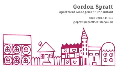 Plantilla de diseño de Apartment Management Consultant Services Offer Business card