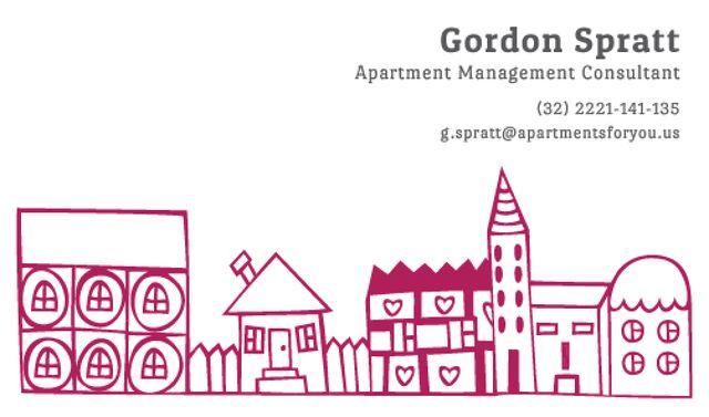 Apartment Management Consultant Services Offer Business card Tasarım Şablonu