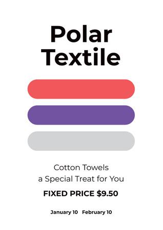Designvorlage Polar textile shop für Poster
