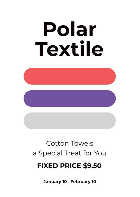 Polar textile shop Poster Design Template