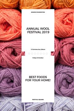 Knitting Festival Invitation Wool Yarn Skeins | Tumblr Graphics Template