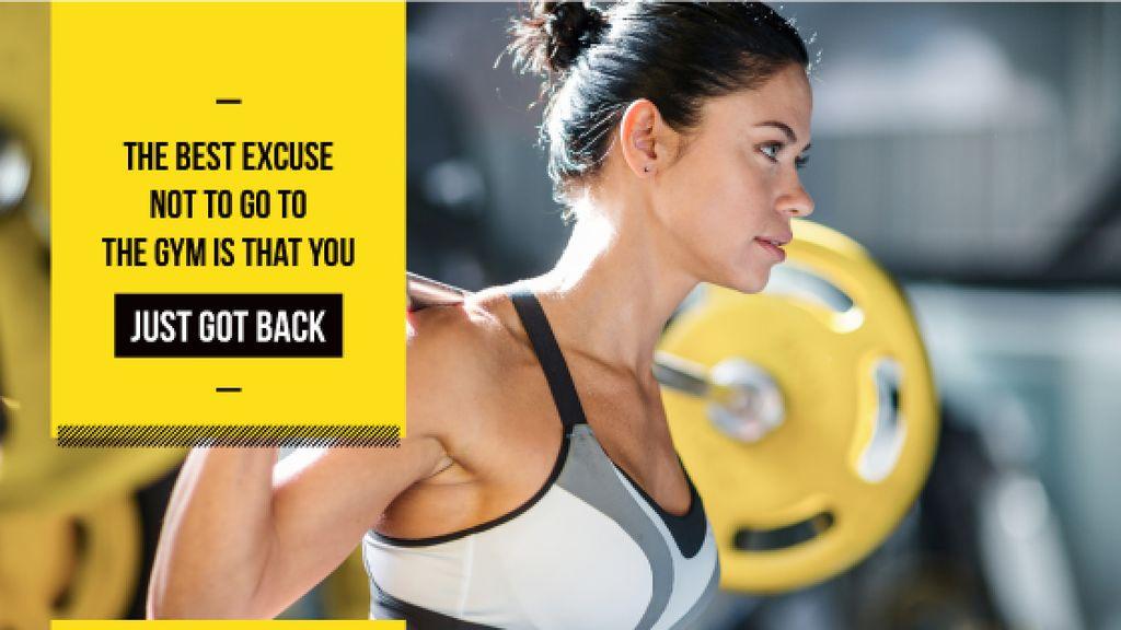 Sport inspiration with Woman lifting Barbell - Bir Tasarım Oluşturun