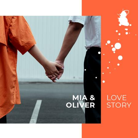 Ontwerpsjabloon van Photo Book van Young Couple love story in city