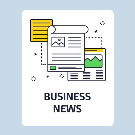 Business News with file icon Animated Post Modelo de Design