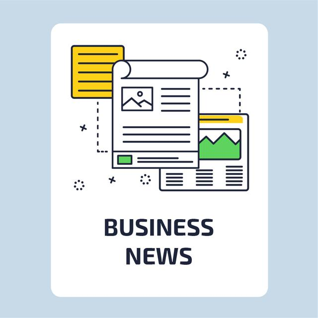 Business News with file icon Animated Post – шаблон для дизайну