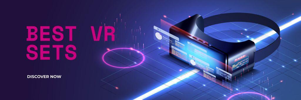 VR technology review Twitter – шаблон для дизайну