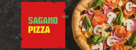 Modèle de visuel Italian Pizza menu promotion - Facebook cover