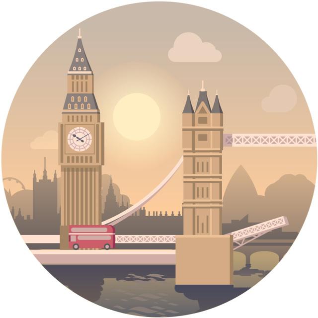 London famouse Travelling spot Animated Post Modelo de Design
