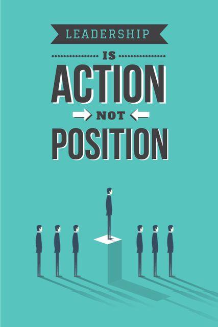 Business Leadership Businessmen in Queue Tumblr Design Template