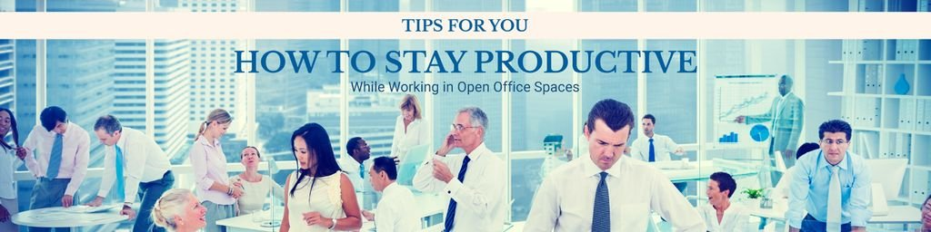 How to stay productive tips banner — Create a Design