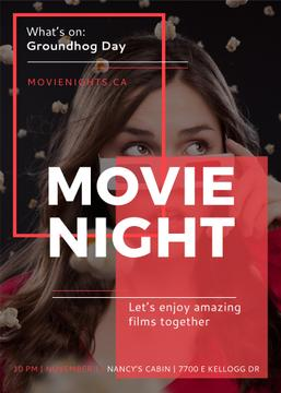 Movie night event poster
