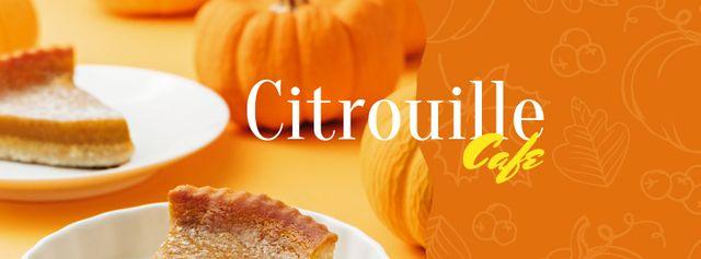 Plantilla de diseño de Pumpkin Pie for cafe offer Facebook cover