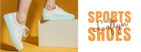 Plantilla de diseño de Shoes Sale Female Legs in Sports Shoes Facebook cover