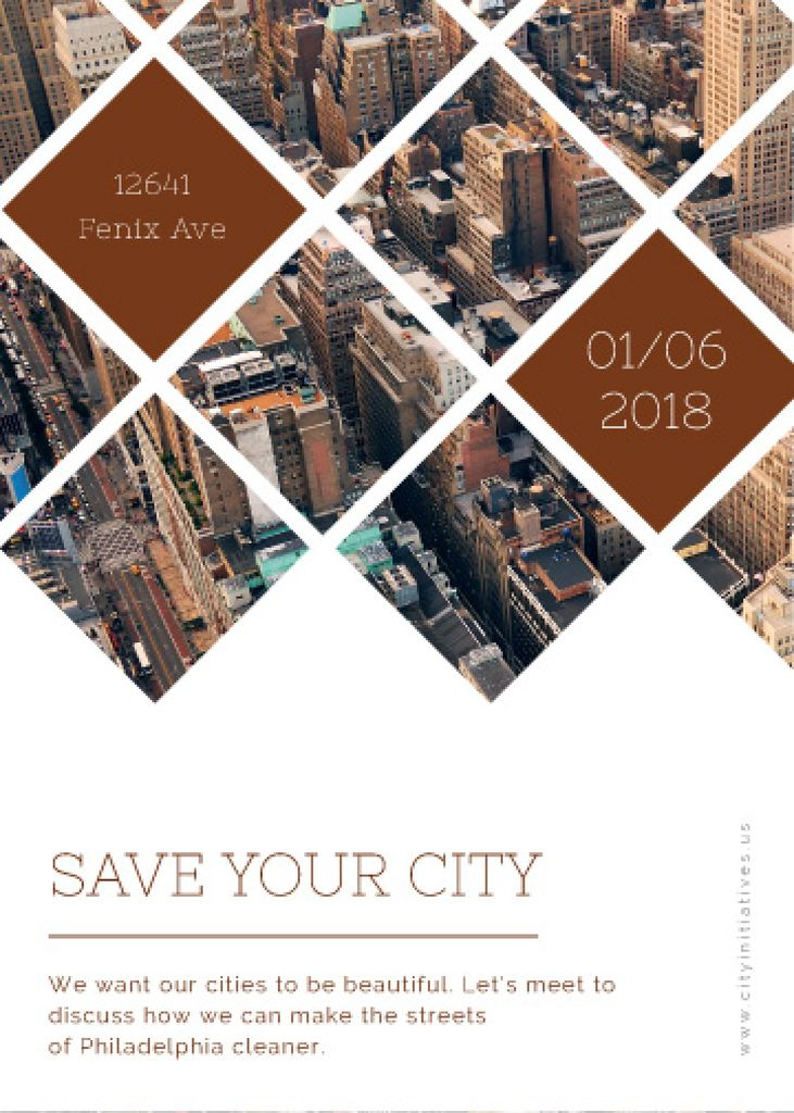 Urban event Invitation with Skyscrapers view — ein Design erstellen