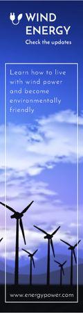 Wind energy banner Skyscraper – шаблон для дизайну