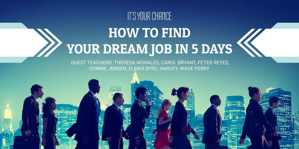 Dream jobs banner — Maak een ontwerp