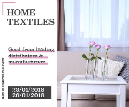 Modèle de visuel Home textiles global tradeshow - Medium Rectangle
