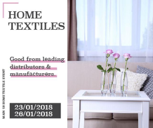 Ontwerpsjabloon van Medium Rectangle van Home textiles global tradeshow