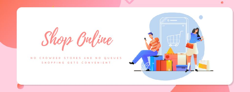 People shopping online —デザインを作成する