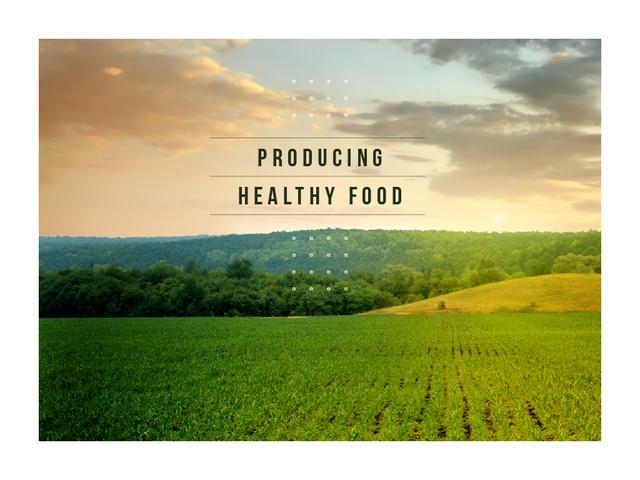Green agricultural field Presentation Modelo de Design